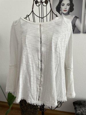 H&M Camicia a tunica bianco