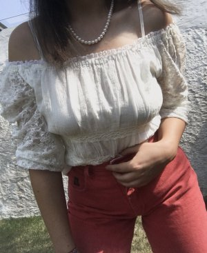 Carmen blouse wit