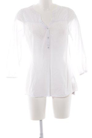 Leichte Bluse aus Baumwolle mit 3/4 Arm, weiß