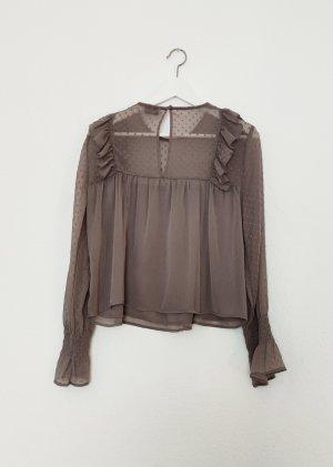 Pull & Bear Blusa trasparente malva-lilla