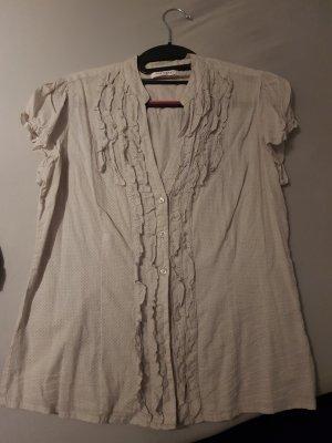 Orsay Bluzka z falbankami szary-w kolorze białej wełny