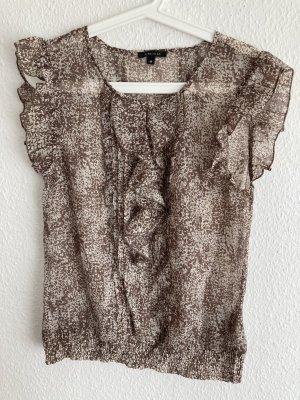 Leichte Bluse, Beiger Print, Gr. M