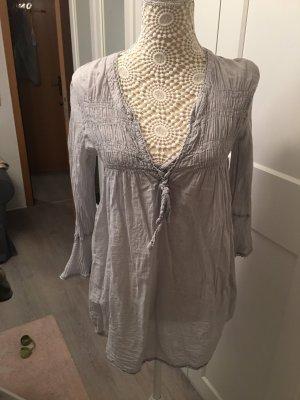 Italia Moda Blusa estilo Crash gris claro