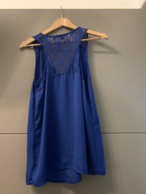 Amisu Mouwloze blouse donkerblauw