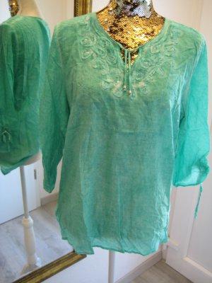 Leichte Bluse Hippie Grün Gr S/M