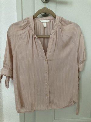 leichte Bluse in zartem Rosa/Nude