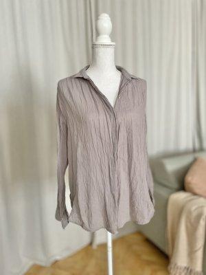 Bella jones Blusa ancha gris-lila grisáceo Algodón