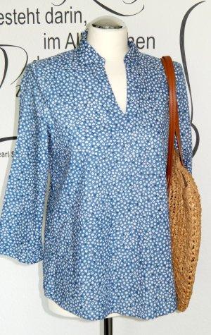 Leichte Bluse mit süßem Blumenmuster (3/4-Ärmel, 100% Baumwolle) - NEU!!
