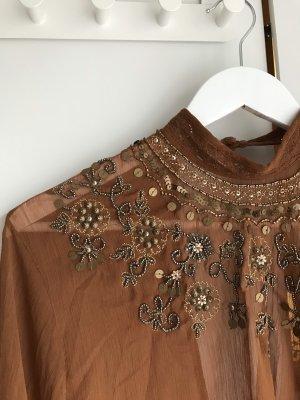 American Vintage Transparante blouse veelkleurig