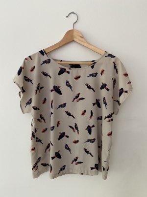 Leichte Bluse mit Vogel-Print