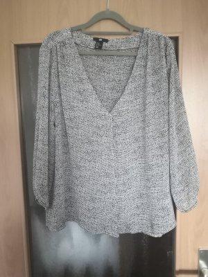 H&M Basic Oversized Blouse white-black