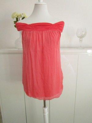 Ambika Mouwloze blouse lichtrood-zalm