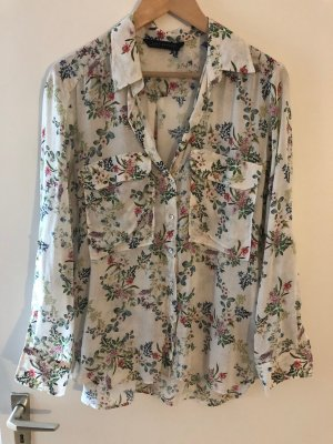 Leichte Bluse von Zara mit Blumenmuster Gr. M