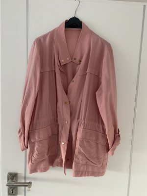 Leichte Blusen-Jacke, Zara, Gr. L, rosa