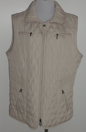 Bexleys Quilted Gilet oatmeal polyester