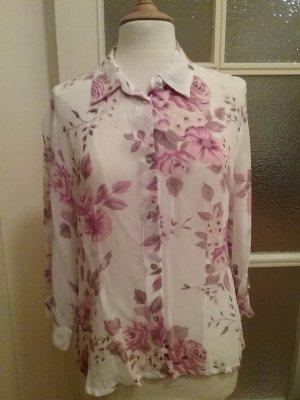 Leichte durchsichtige Bluse mit Blumenprint von Together