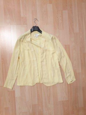 Amisu Marynarka koszulowa jasnożółty