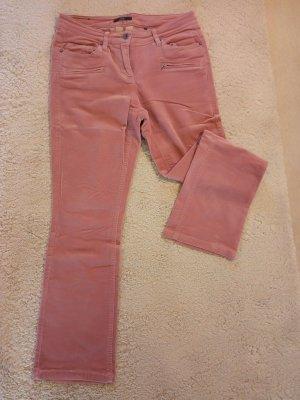 Zero Pantalon en velours côtelé rose