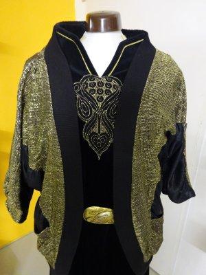 Leichte, festliche Jacke in schwarz gold, mit Lurex