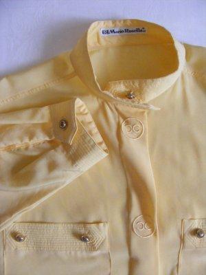 leichte gelbe Langarmbluse von Mario Rosella