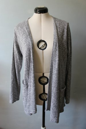 Amisu Long Knitted Vest light grey-grey