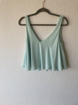 Leichte hellblaue Zara Bluse