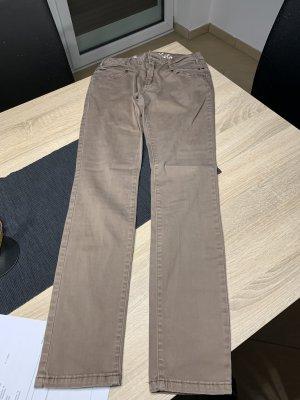 Buena Vista Spodnie rurki szaro-brązowy