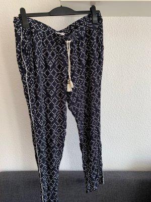 H&M Pantalone alla turca nero-bianco Viscosa