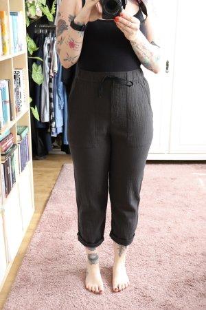 Zara Pantalone a vita alta antracite-grigio scuro