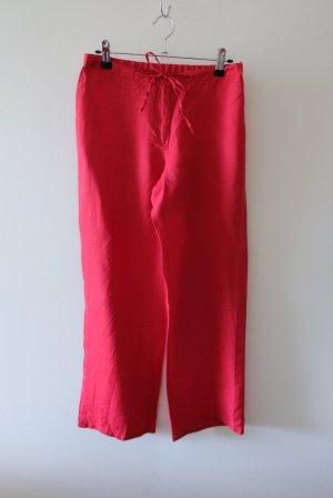 Benetton Pantalón de lino rojo