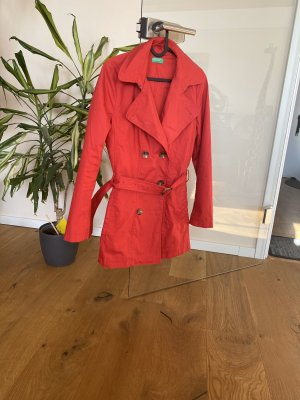United Colors of Benetton Giacca lunga rosso