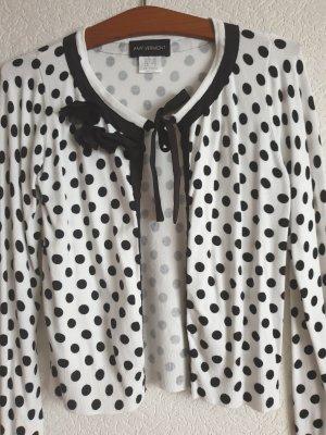 Amy Vermont Veste chemisier blanc-noir