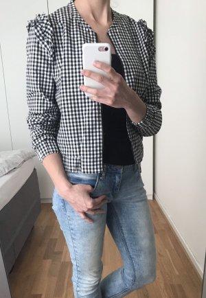 Reserved Chaqueta tipo blusa negro-blanco