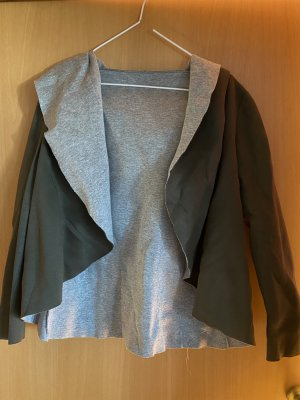 D made in Italy Cape silver-colored-green grey mixture fibre