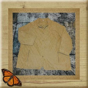 Veste oversize beige tissu mixte