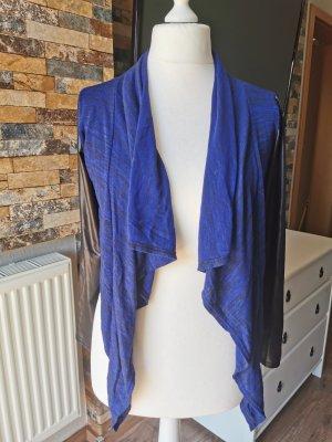 Chaqueta estilo camisa negro-azul