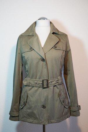 s.Oliver Long Jacket olive green cotton