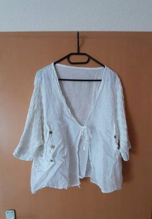 keine Ahnung Oversized Jacket white
