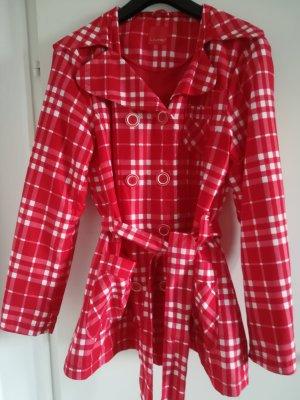 Livre Long Jacket white-red