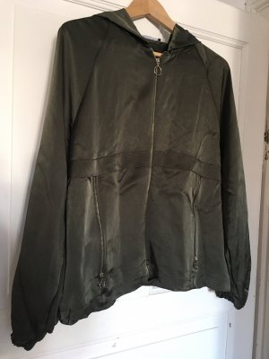 Zara Blouse Jacket dark green