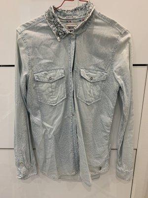 Tommy Hilfiger Blouse en jean bleu clair
