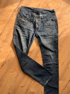 Manguun Boot Cut Jeans slate-gray-blue