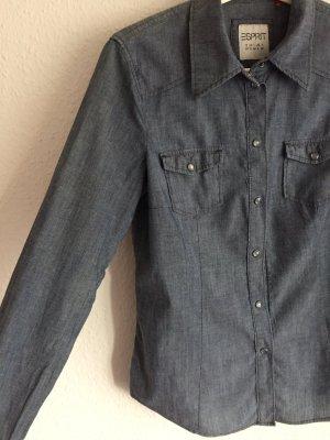 Esprit Blouse en jean multicolore coton