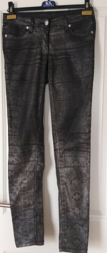 1982 Jeansy rurki czarny-srebrny