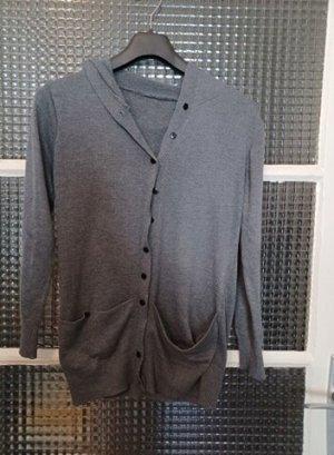 Hooded Vest grey-black