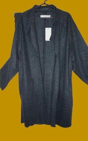 Mango casual Veste chemise gris-gris foncé tissu mixte