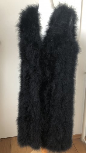 Twin set Smanicato di pelliccia nero