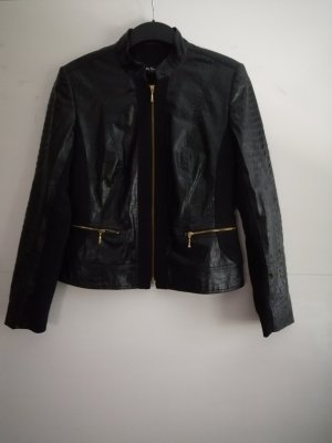 Betty Barclay Faux Leather Jacket black-gold-colored