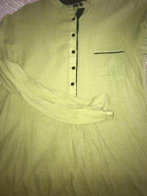 Lniana bluzka oliwkowy