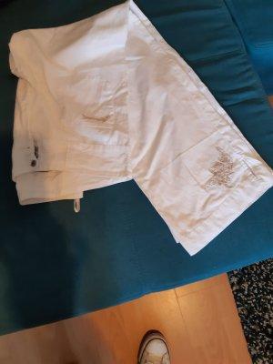 Brunotti Lniane spodnie biały Len
